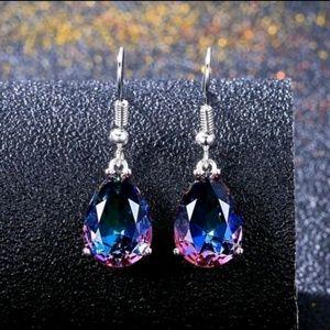 🌟Stunning! Mystic Rainbow Fish Hook Earrings
